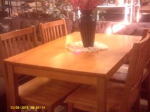Wood table and 4 chairs in San Diego, California