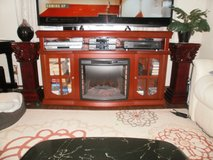 Entertainment Stand with Heater/Fireplace in Okinawa, Japan