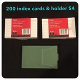 2oo index cards & holder in Okinawa, Japan