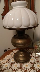 Antique Milk glass lamp in Warner Robins, Georgia