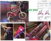 "12"" Girls Huffy Sea Star Bike w/ Training Wheels & Helmet in Fort Rucker, Alabama"