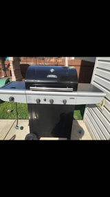 Gas Grill with side burner in Morris, Illinois