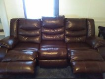 Leather couch in Fort Rucker, Alabama