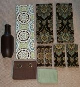 Blue Brown Bathroom decor set in Camp Lejeune, North Carolina