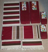 Red Brown Bathroom Decor Set in Camp Lejeune, North Carolina