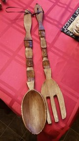 Wood Spoon & Fork Wall Hanging in Fort Campbell, Kentucky