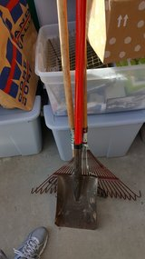 Rake, garden rake and shovel in Camp Pendleton, California