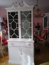 Striking shabby chic china cabinet in Naperville, Illinois