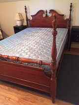 Full antique bed with mattress and box springs in Beaufort, South Carolina