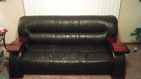 black leather couch and chair in Colorado Springs, Colorado