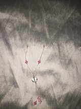 Pink and silver necklace in Chicago, Illinois
