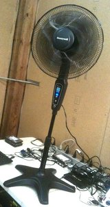 room fan Honeywell QuietSet on telescoping stand with remote control in Fort Lewis, Washington