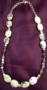 "Yellow Turquoise with Swarovski Crystal and stardust beads Necklace 20"" in Las Cruces, New Mexico"