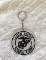 USMC US Marine Corps key chain purse bag charm decal vinyl acrylic in Camp Lejeune, North Carolina