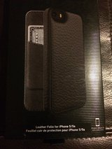 IPhone 5s Black Leather folio case in Chicago, Illinois