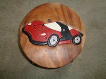 Solid wood Race car stool Heavy Duty in Camp Lejeune, North Carolina