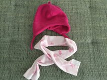 2 Baby girl hats 12-24m  and scarf in Ramstein, Germany