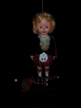 OLD 6 INCH DOLL WITH BAGPIPES in Chicago, Illinois