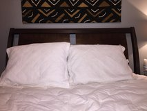 Reduced- wood queen bed in Montgomery, Alabama