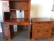 Matching Computer Desk and Credenza in DeKalb, Illinois