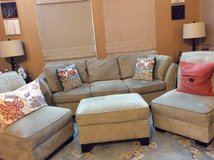 Sofa and chairs and ottoman in Naperville, Illinois