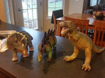 3 Dinosaurs with books in Chicago, Illinois