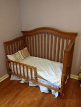 Beautiful Mahogany 3 in one Convertible Crib in Fort Rucker, Alabama