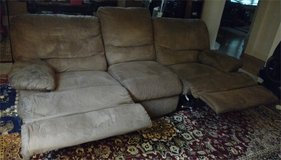 Tan Microfiber Sofa Coach Living Room Furniture in Wright-Patterson AFB, Ohio