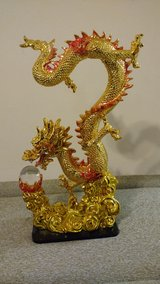 Gold Chinese Dragon Resin Table Deco Or Collection in Wright-Patterson AFB, Ohio
