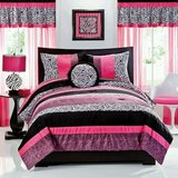 Teen/Tween girl comforter bedding set zebra pink white black in Batavia, Illinois