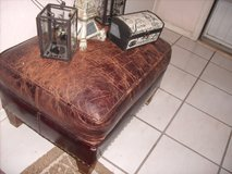 Distressed leather ottoman/PARIS decor items in Fort Bliss, Texas