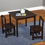 Hayden Kids 3 Piece Square Table & Chair Set (Espresso) - NEW! in Bolingbrook, Illinois