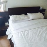 King/Queen Bed w mattress - OVO HOME in Okinawa, Japan