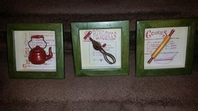 Shadow Box 3 Piece Recipe Picture Set in Clarksville, Tennessee