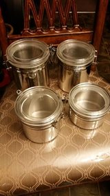 Stainless Steel 4 Piece Canister Set in Fort Campbell, Kentucky
