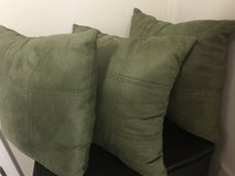 Olive Accent Pillows (3) in Hinesville, Georgia
