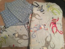 Sock Monkey Twin Size Bedding - 5 pieces!! in Beaufort, South Carolina