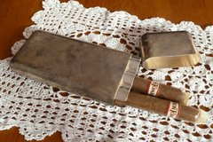 Vintage Silver Plated 3 Cigar Case in Okinawa, Japan