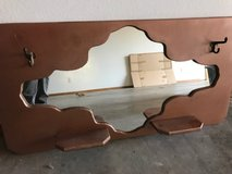 Vintage MIRROR with hooks and shelves in Fort Leonard Wood, Missouri