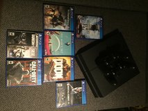 PS4 with 7 Games and two controllers plus controller charging dock in Ramstein, Germany