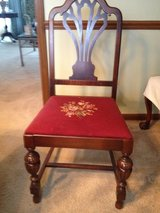 Needlepoint chair in Naperville, Illinois