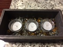 * Home Decor: bamboo box, candles, glass gems in Morris, Illinois