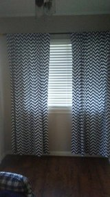 "4 Navy & White Curtains 84"" in Kingwood, Texas"