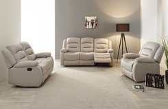 Chamant  - Sofa-Loveseat-Chair  includes delivery - CREAM or Dark Grey - see VERY IMPORTANT below.. in Spangdahlem, Germany