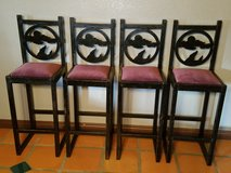 4 matching iron bar stools in Yucca Valley, California