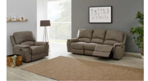 Chantilly - NEW MODEL - Sofa and Chair with dual voltage Recliners - price includes delivery in Ansbach, Germany