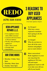 DON'T SPEND ALL YOUR TAX DOLLARS ON NEW APPLIANCES! COME TO REDO! in Perry, Georgia