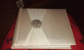 wedding photo album white with satin and beads in Leesville, Louisiana