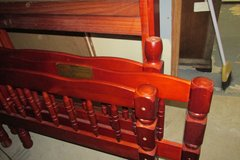 Solid wood Twin Bunk bed! Cherry wood color! in Kingwood, Texas