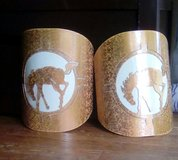 2 Horse Metal Light Covers in Ruidoso, New Mexico